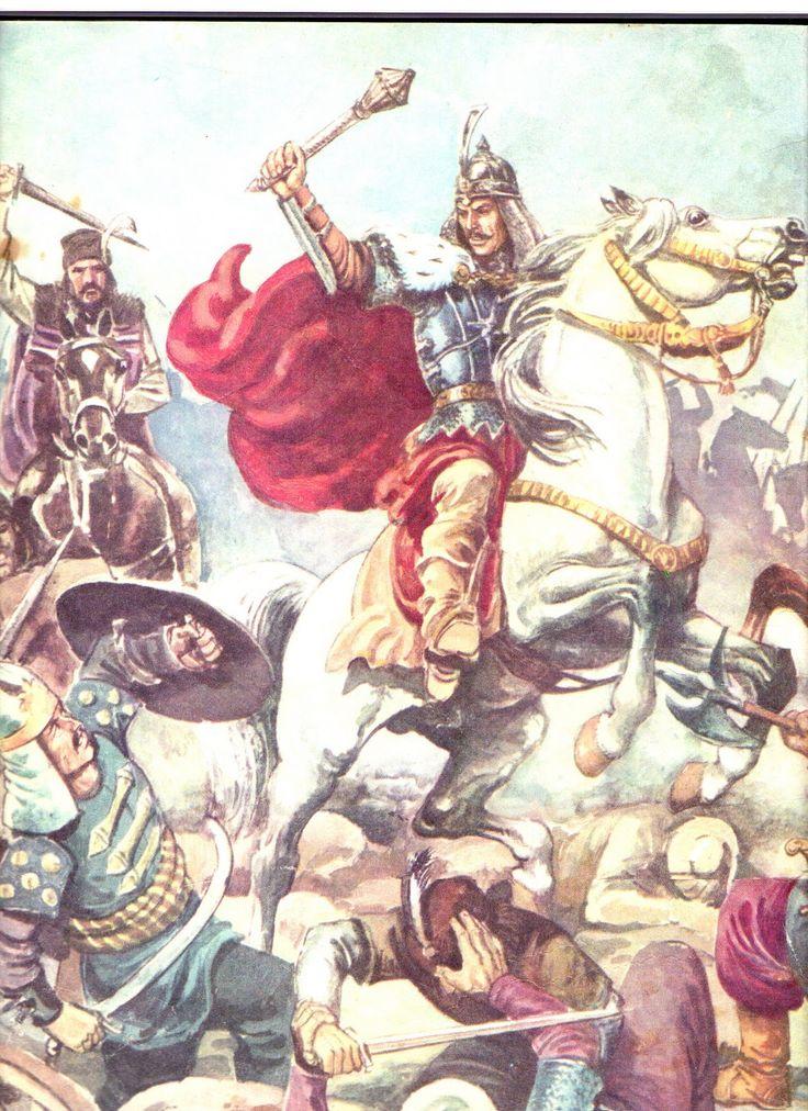 Stefan cel Mare fighting turks