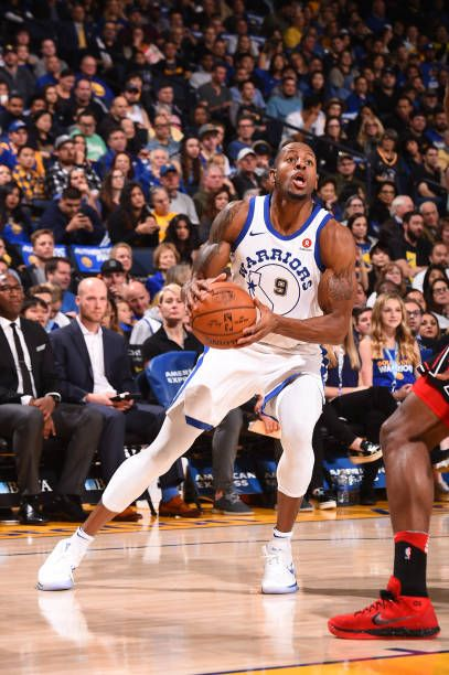 Andre Iguodala of the Golden State Warriors handles the ball against the Chicago Bulls on November 24 2017 at ORACLE Arena in Oakland California NOTE...