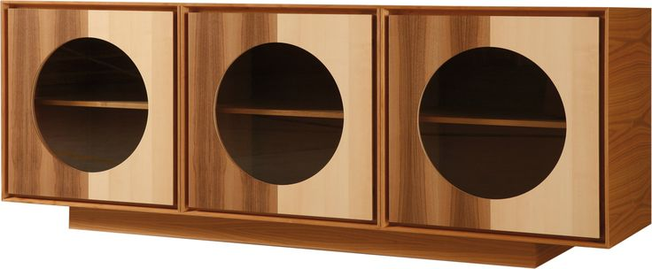 OBLO', sideboard made of cherry wood