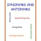Free! Synonyms & Antonyms...simple and easy-to-use worksheet that introduces synonyms and antonyms.