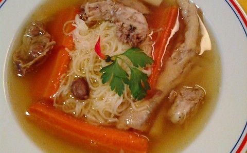 Csirkeaprólék leves recept fotóval