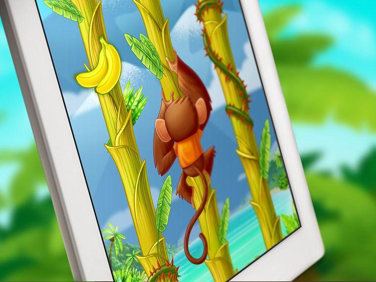 Tree Hopper iOS game art – Mobile UI Examples