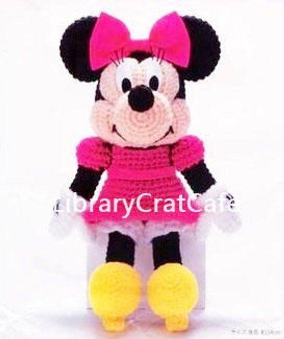 Mickey Mouse Minnie Mouse Amigurumi Crochet Pattern 14 Tall Dolls