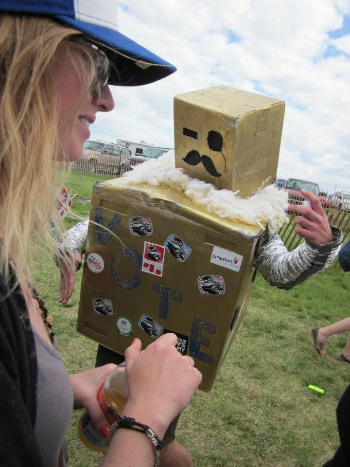 We also encountered drunk robots at these festivals.