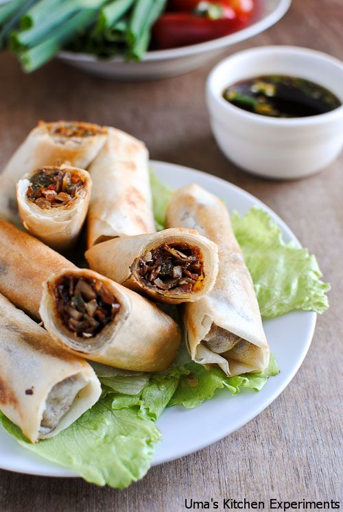 Try these Vegetable Spring Rolls for the big game!