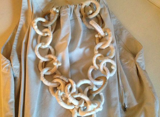 A special necklace: homemade! Made in Bettina Nagel