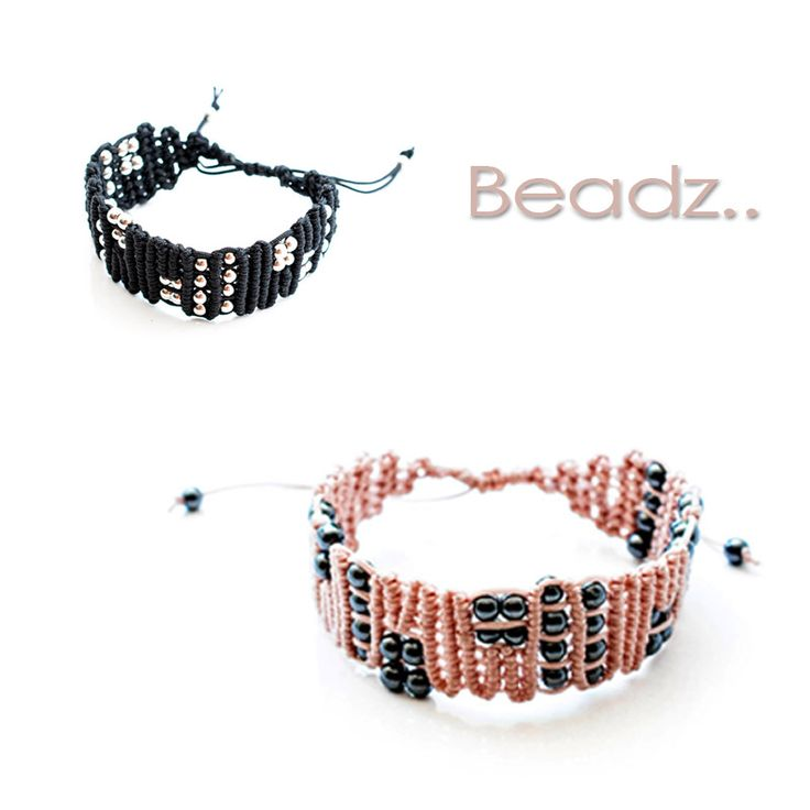 Two different #colors made with different materials. Pink or Black? #Hematite beads or #silver #beads? Make your choice..