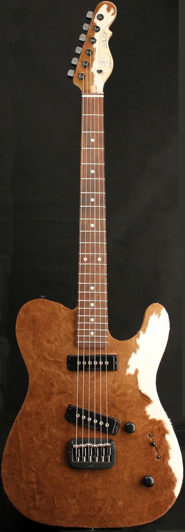 "G&L Guitars ASAT® Special Deluxe ""Cowhide"", Swamp Ash body with genuine Cowhide on the front & headstock face"
