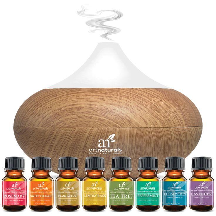 Art Naturals® Top 8 Essential Oils & Oil Diffuser Set - ArtNaturals