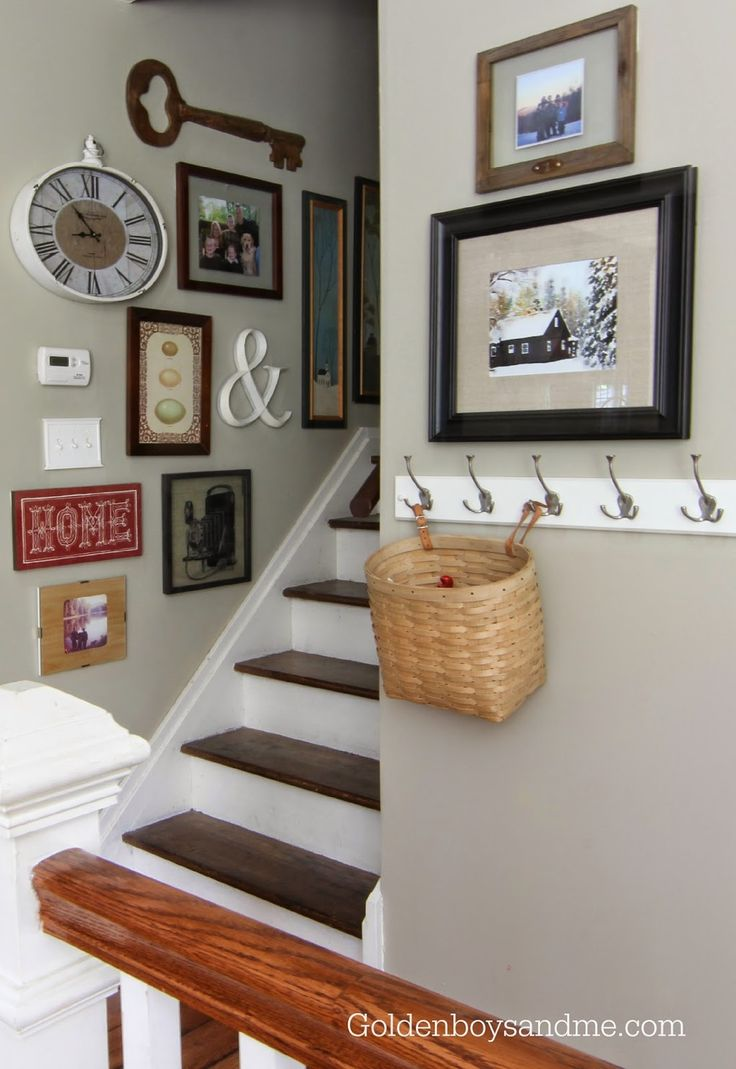 gallery wall with clock and key-www.goldenboysandme.com