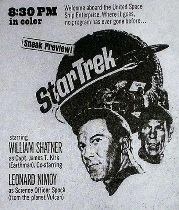 Promo ad for Star Trek, 1966.