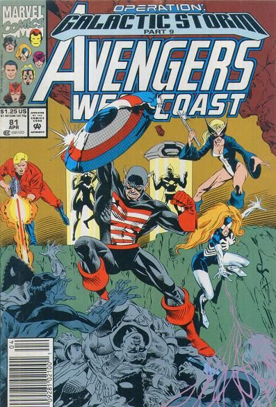 AVENGERS West Coast Vol1 81 (1992) | Operation Galactic Storm | Major EVENTS of the Marvel UNIVERSE