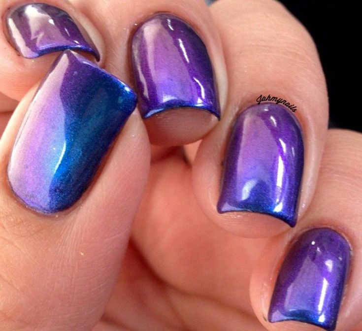 PURPLE HAZE – Multichrom-Farbwechsel-Nagellack Puple, Grün, Blau, Cyan – Nägel