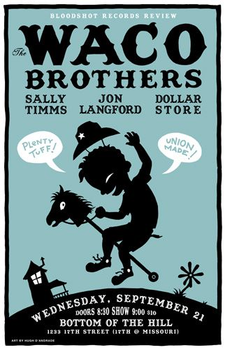 GigPosters.com - Waco Brothers, The - Jon Langford - Sally Timms - Dollar Store. #musicart #concerts http://www.pinterest.com/TheHitman14/music-poster-art-%2B/