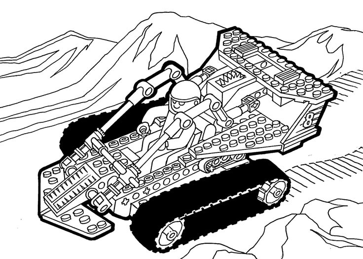 lego technic coloring page for girls printable free lego