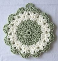 Free #crochet hot mat / #trivet pattern.