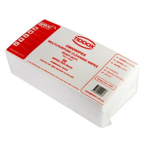 Commercial grade cleaning wipes - each wipe measures 30cm x 60cm.