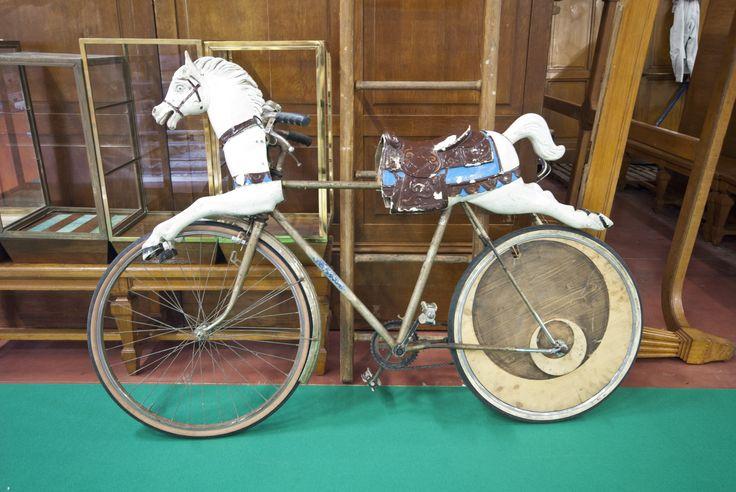 Half bicycle half horse...