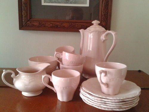 Beautiful Vintage Rosa Pink J G Meakin England Coffee TEA SET | eBay