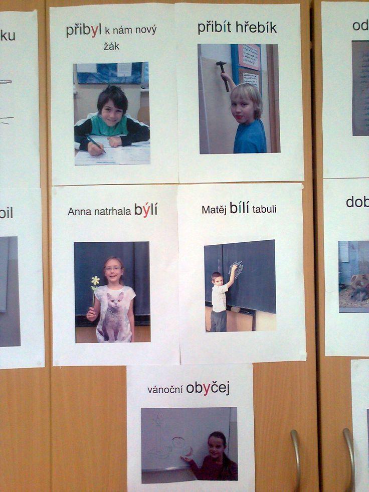 Žáci tvoří vyjmenovaná a příbuzná slova.