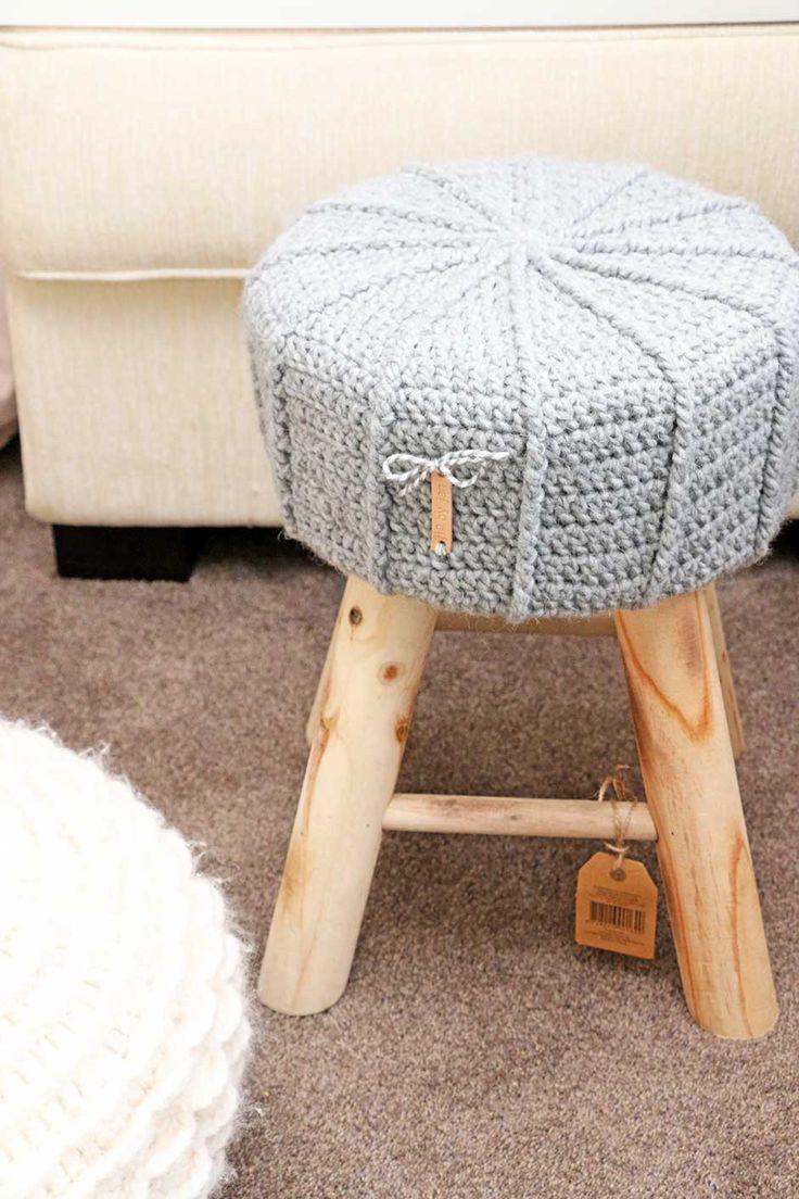 Gehaakt krukhoesje met label Krukje van de Action, hoesje van mij :-) #jipbyjan #crochet #haken