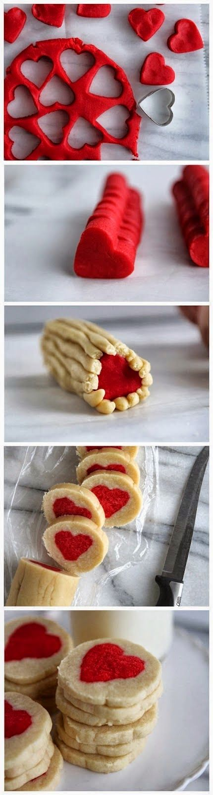 How To Make Slice n' Bake Valentine Heart Cookies | Food Blog