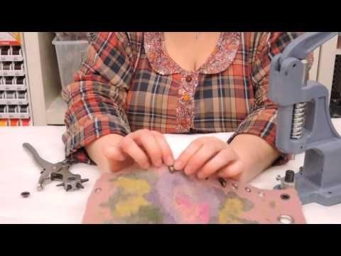 Как пользоваться прессом для фурнитуры, установить люверсы и петли на обувь - YouTube