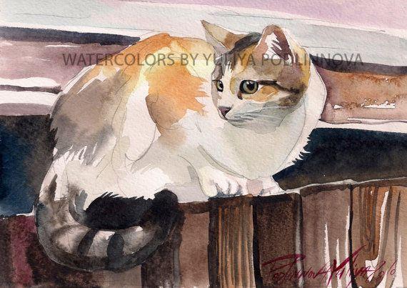 Calioc 3 tres colores gato descargar impresión instantánea de