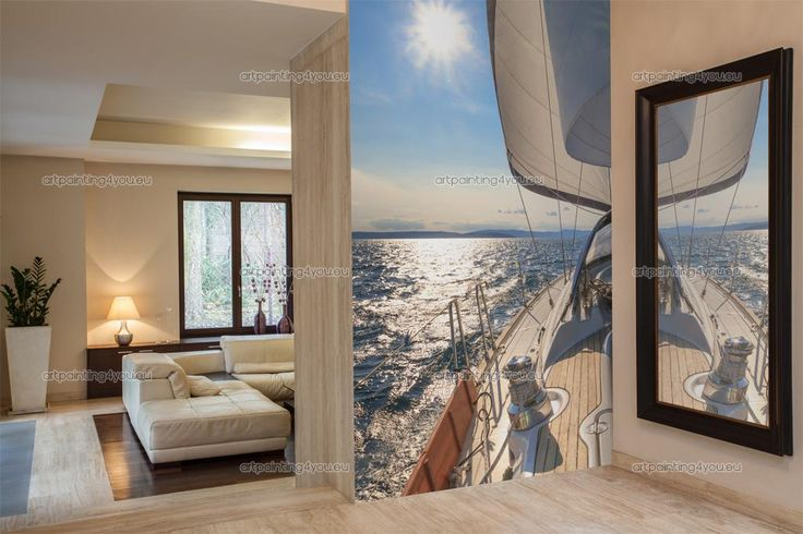 Fototapet Resor, Posters & Canvastryck Segelbåt