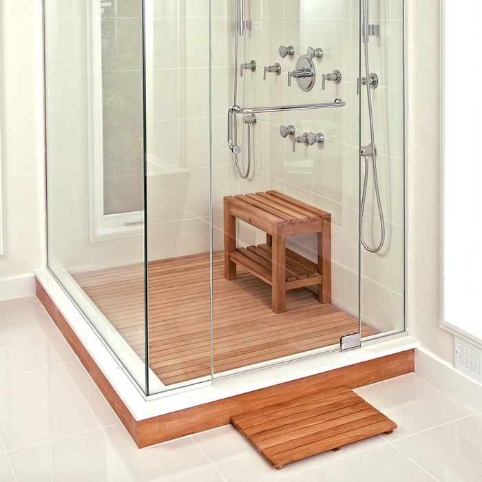 Bath Rug Shower Floor Teak Shower Mat Teak Flooring