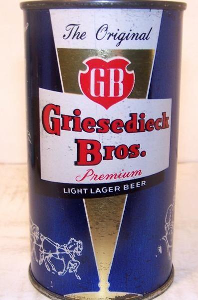 Griesedieck Bros. Premium Beer, USBC Like 76-16 (DK. Blue) Grade 1/1- – Beer Cans Plus