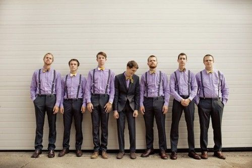 Cute groomsmen outfit and photography idea #lavenderweddings #groomsmenideas