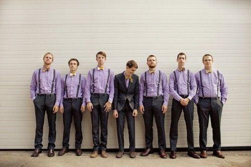 Cute groomsmen outfit and photography idea #lavenderweddings #groomsmenideas