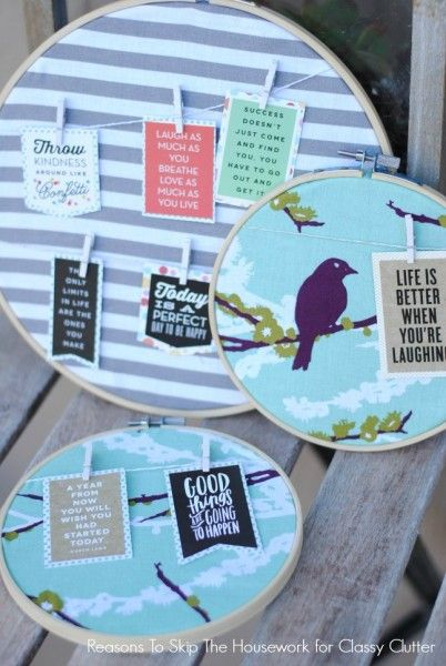 Hoop Quote are the perfect gift for any holiday! Taking someones favorite quote and creating a wonderful decoration is such a cute idea!! Click above for the tutorial!