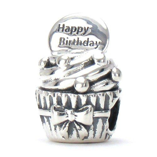 [Sponsored]Happy Birthday Cup Cake Charm Bead - 925 Sterling Silver - Gift boxed qHftuAf