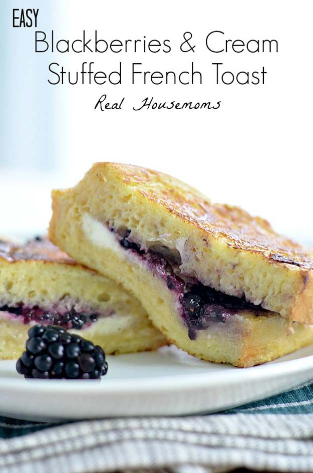 Cool and Easy Recipes For Teens to Make at Home - Easy Blackberries and Cream Stuffed French Toast - Fun Snacks, Simple Breakfasts, Lunch Ideas, Dinner and Dessert Recipe Tutorials - Teenagers Love These Fun Foods that Are Quick, Healthy and Delicious Ideas for Meals http://diyprojectsforteens.com/diy-recipes-teens