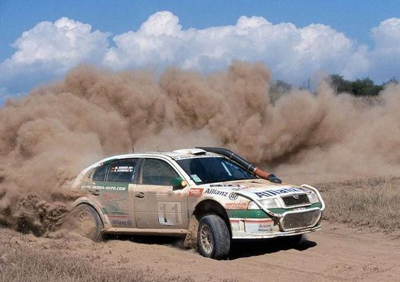 Skoda Octavia WRC rally car: