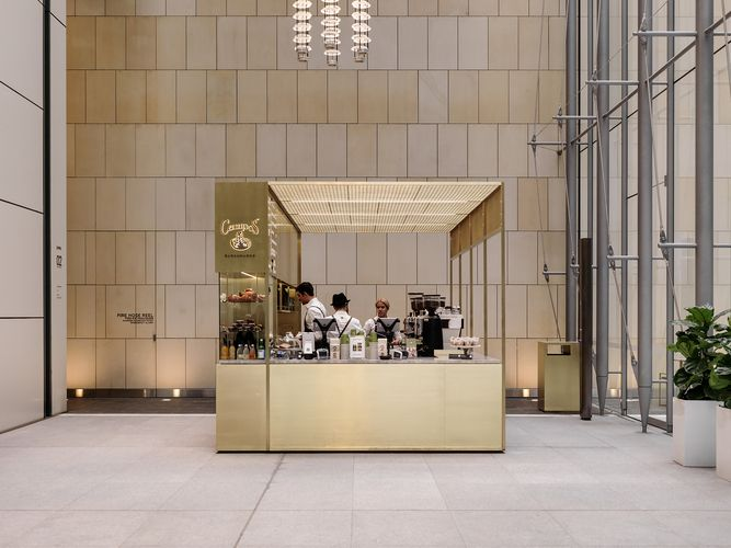 Campos Woods Baggot Mobile CafeCafe RestaurantCommercial DesignArchitecture Interior DesignKioskDesign AwardsHospitalityReceptionsRestaurants