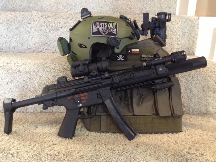 h&k mp5 suppressed   MP5SD - B&T mount and front rail system, Aimpoint Comp M2, LDI LAS ...