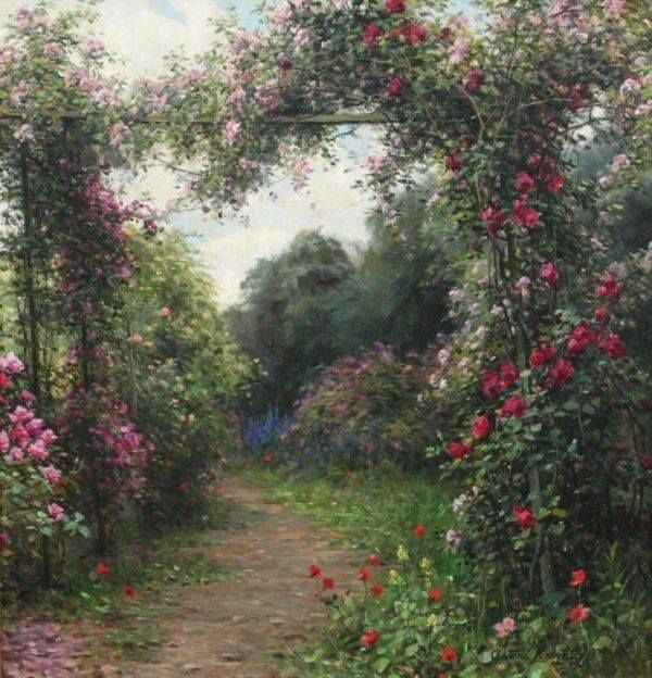 Louis Aston Knight (1873–1948) Path of roses