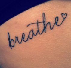 2017 trend Women Tattoo - just breathe tattoo - Google Search...