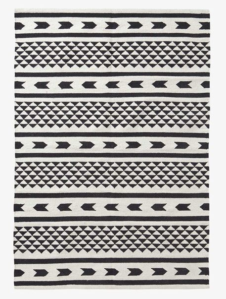 Tapis graphique - Blanc/noir - 1