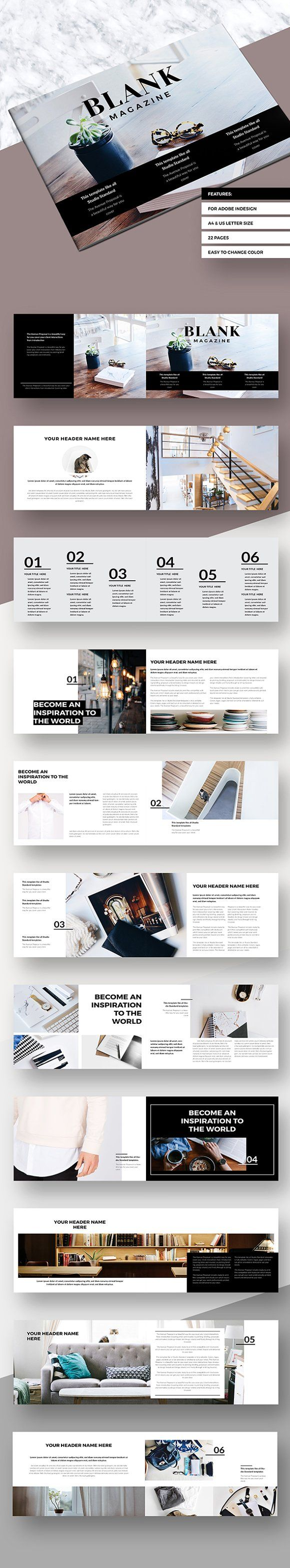 Simple Magazine Landscape by Fitra Noor on @creativemarket