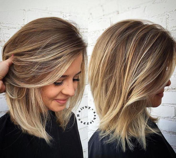 Best Of Medium Hairstyle für dünnes Haar und rundes Gesicht   – haare – #dünnes #für #Gesicht #Haar #Haare