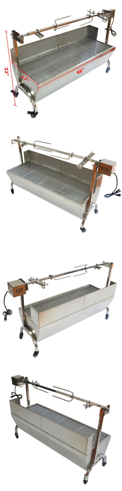 Barbecues Grills and Smokers 151621: 46 Large Stainless Steel Bbq,Pig,Lamb,Goat,Chicken Spit Roaster,Rotisserie Top -> BUY IT NOW ONLY: $389.99 on eBay!