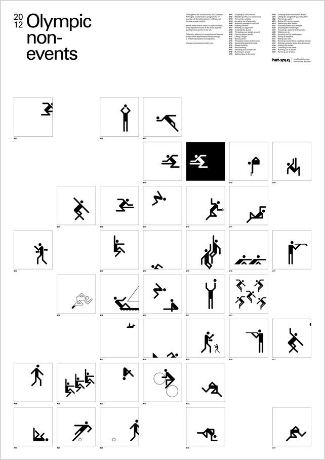 1 | Pictograms For The Olympic Feats Of Everyday Life | Co.Design: business + innovation + design
