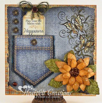 Heartfelt Creations | Jeans Pocket Card | Candy Slabaugh