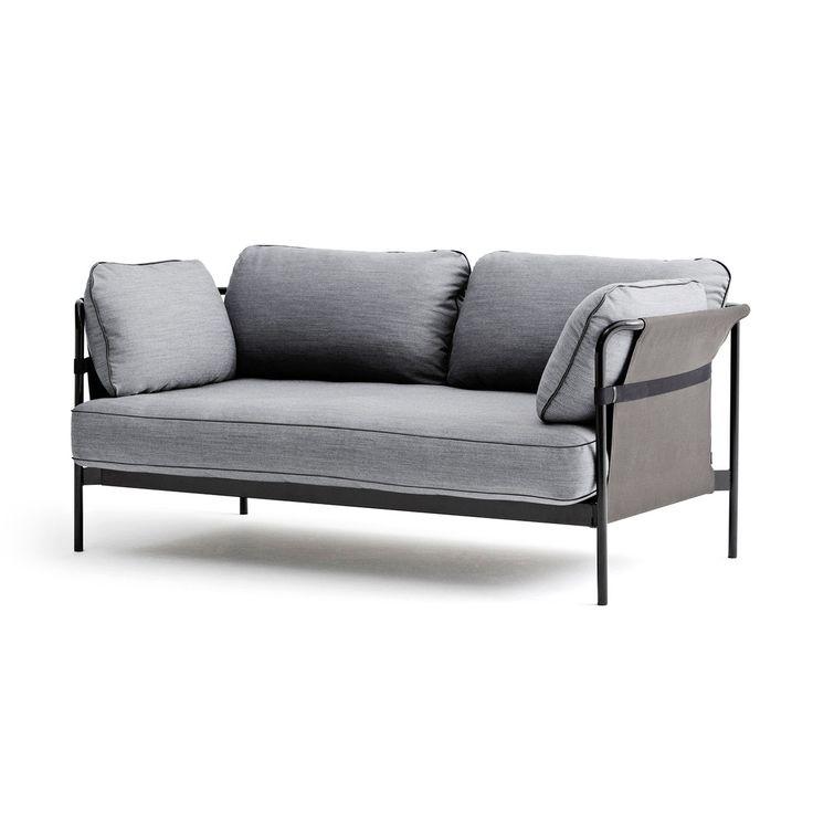 Lounge sofa 2 sitzer outdoor  Hay - Can Sofa, 2-Sitzer, grau / Canvas grau | Inneneinrichtung