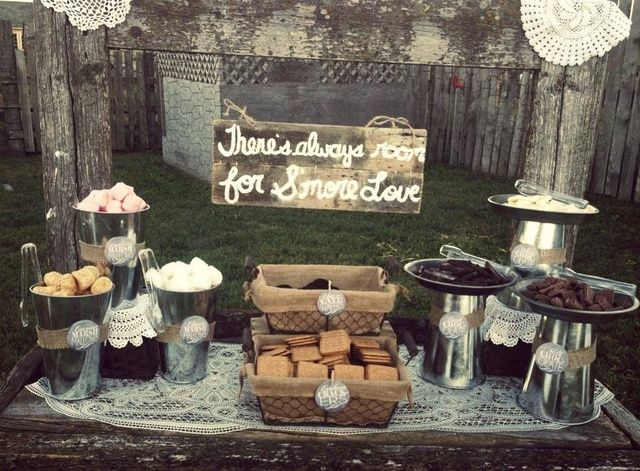 DIY S  39 mores Bar   See more party ideas at CatchMyParty com