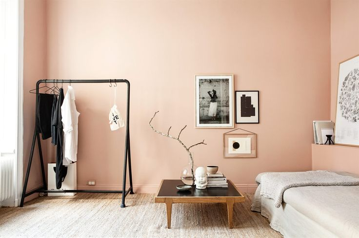 Salmon might be an unusual color choice, but we love how these salmon walls brighten the room without overpowering the furniture! Get this contemporary shade for your nails with Trind Caring Color CC165 Light Salmon, available at trind.ca.
